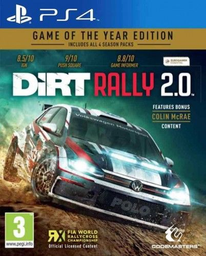 Dirt Rally 2.0 Edycja Gry Roku PS4