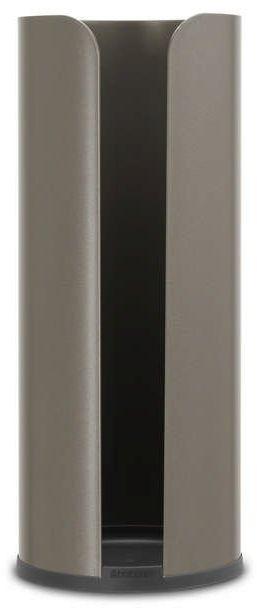 Brabantia - uchwyt na papier toaletowy renew collection - platynowy - platynowy