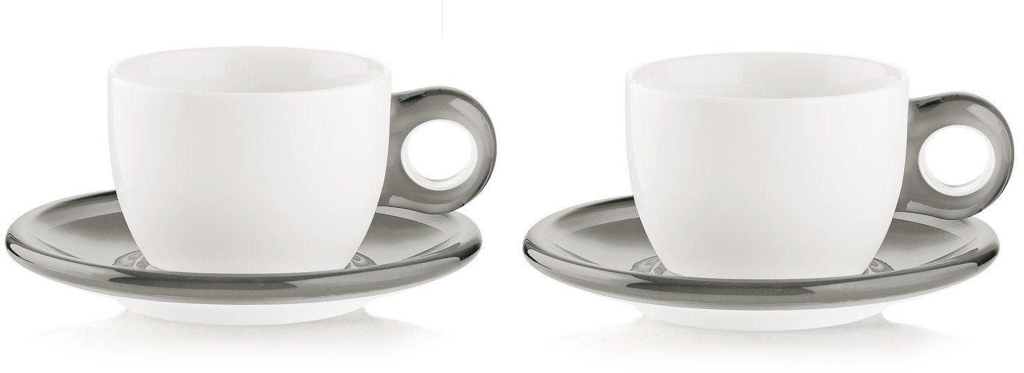 Fratelli Guzzini Gocce, 2 filiżanki do cappuccino ze spodkami, SMMA Porcelain