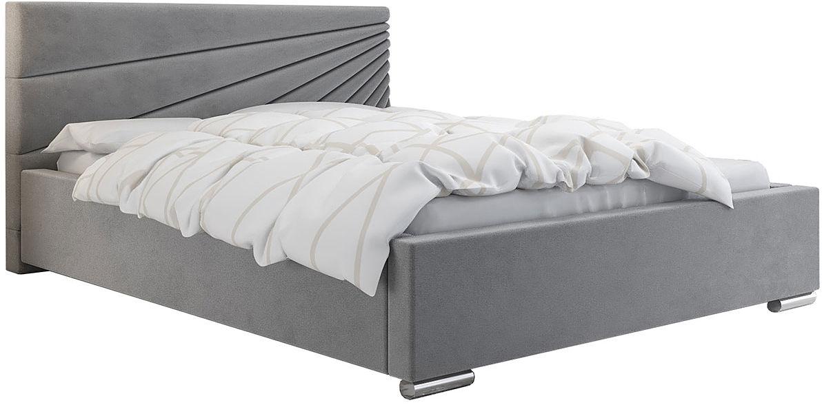 Dwuosobowe łóżko ze stelażem 200x200 Lander 3X - 48 kolorów