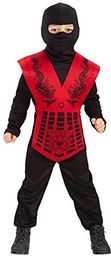 Carnival Toys 65814 - Ninja, kostium dziecięcy, 8-9 lat
