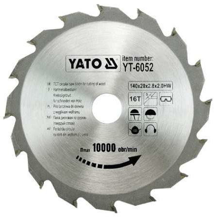 TARCZA WIDIOWA 140X16TX20 MM Yato YT-6052 - ZYSKAJ RABAT 30 ZŁ