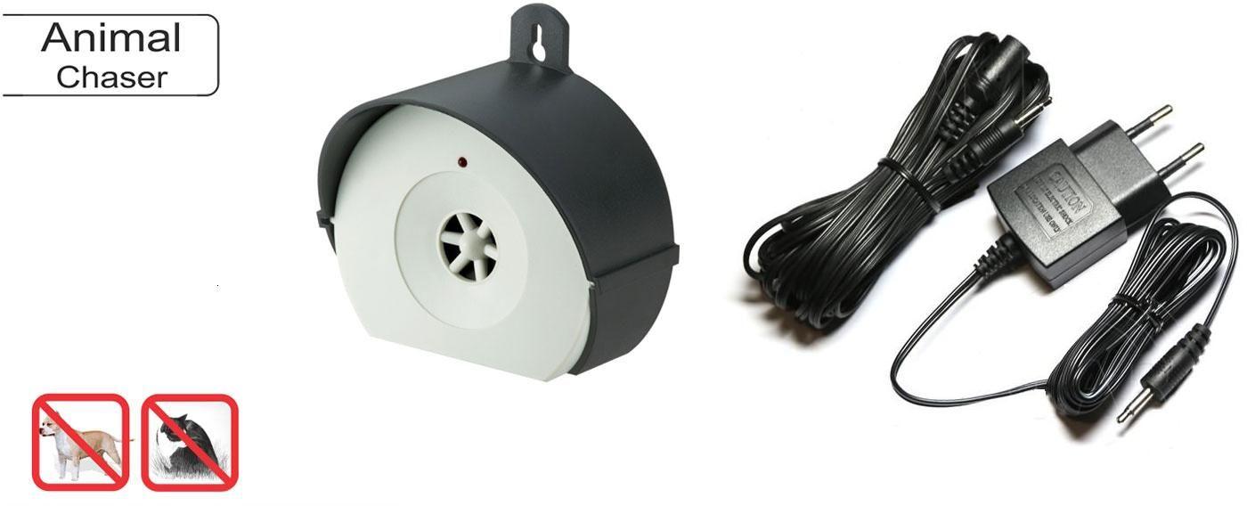 Elektroniczny Odstraszacz Ultradźwiękowy na Psy, Koty, Zające i Wiewiórki (pod 230V) + Przedłużacz.