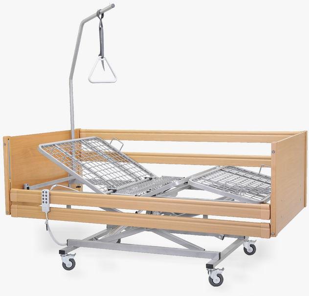 Łóżko rehabilitacyjne, drewniane MAGDA elektryczne