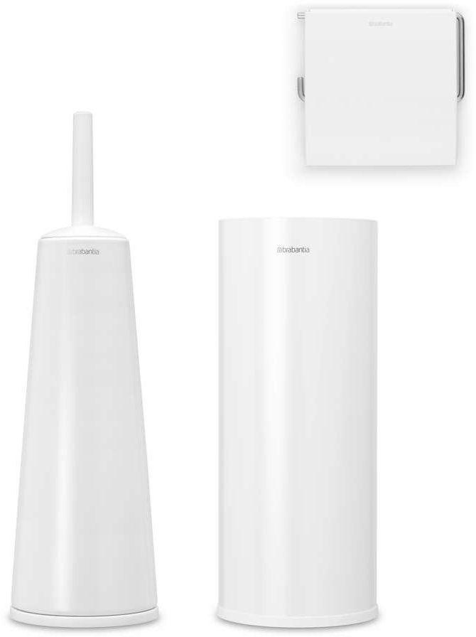Brabantia - zestaw łazienkowy renew collection - biały - biały