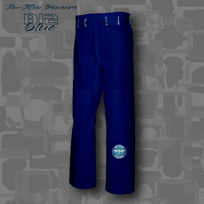 spodnie BJJ / Jiu-Jitsu B12-blue 12oz, niebieskie (27 rozmiarów)