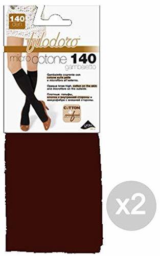 Filodoro Zestaw 2 pończochy z mikrobawełny, 140 Tg 4L Kopf Moro rajstopy dla kobiet, wielokolorowe, rozmiar uniwersalny
