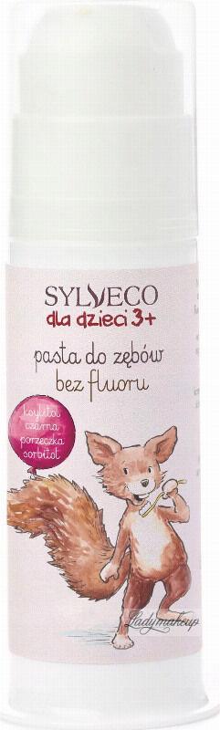SYLVECO - Dla dzieci 3+ Pasta do zębów bez fluoru - Ksylitol, czarna porzeczka, sorbitol - 75 ml