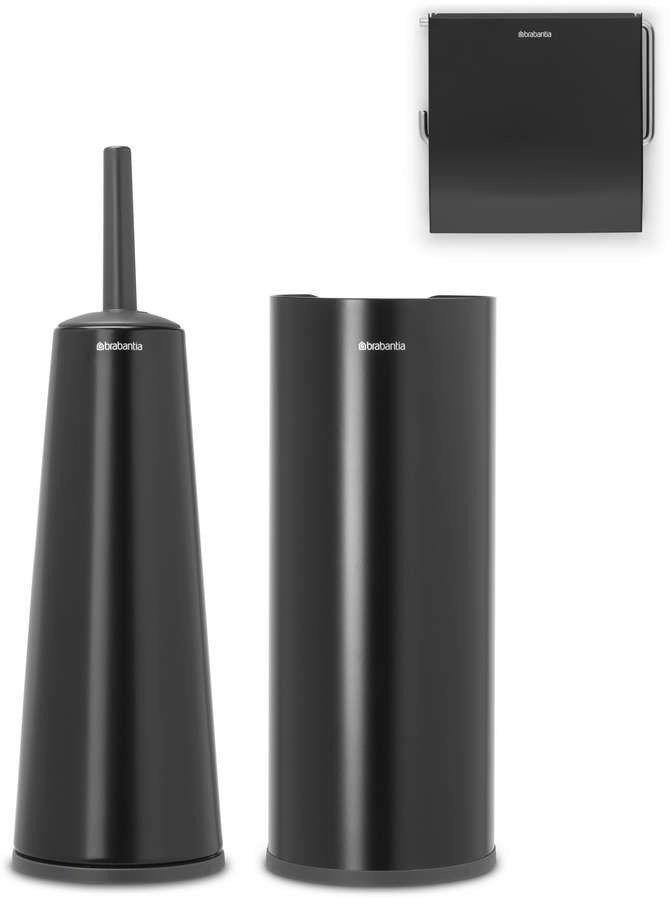 Brabantia - zestaw łazienkowy renew collection - czarny matowy - czarny
