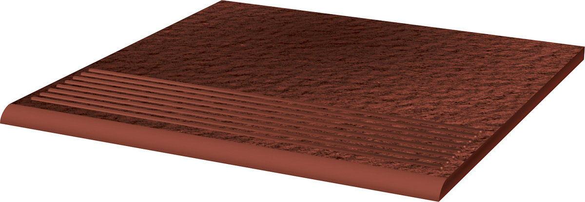 CLOUD DURO ROSA stopnica ryflowana prosta strukturalna 30x30x1,1