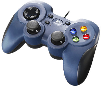 Logitech F310 Czarny, Niebieski USB 2.0 Gamepad PC