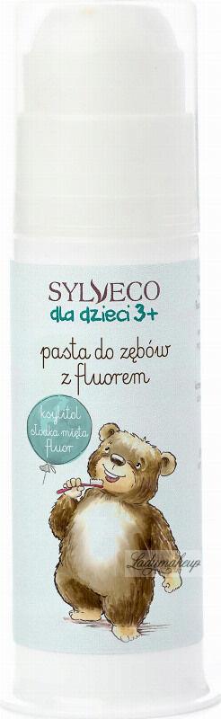 SYLVECO - Dla dzieci 3+ Pasta do zębów z fluorem - Ksylitol, słodka mięta, fluor - 75 ml