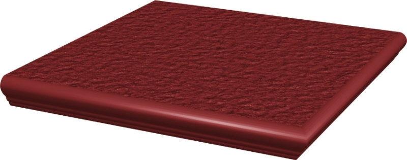 CLOUD DURO ROSA stopnica z kapinosem narożna strukturalna 33x33x1,1