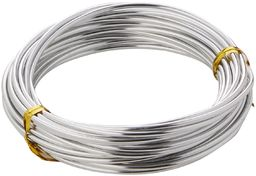 Efco 2 mm x 5 m 42 g Około aluminiowy drut anodowany, srebrny