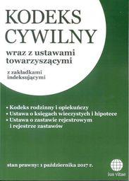 Kodeks cywilny wraz z ustawami towarzyszącymi z zakładkami indeksującymi ZAKŁADKA DO KSIĄŻEK GRATIS DO KAŻDEGO ZAMÓWIENIA
