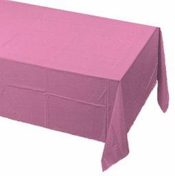 Kreatywna konwersja cukierkowa różowa plastikowa podszewka prostokątna papierowa obrus na stół - 1 szt. , jeden rozmiar