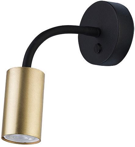Kinkiet Eye S 9067 Nowodvorski Lighting czarno-mosiężna nowoczesna oprawa z elastycznym wysięgnikiem
