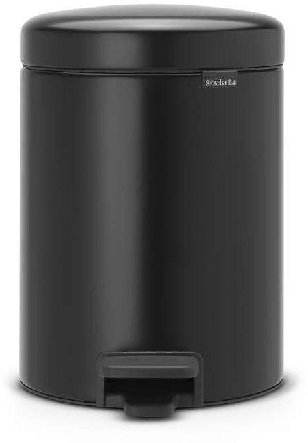 Brabantia - kosz łazienkowy newicon - 2 x 2 l - plastikowe wiadro i wolnoopadająca pokrywa - czarny matowy - czarny