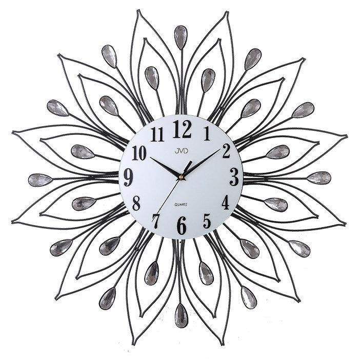 Zegar ścienny JVD HJ84 z kryształkami średnica 58 cm