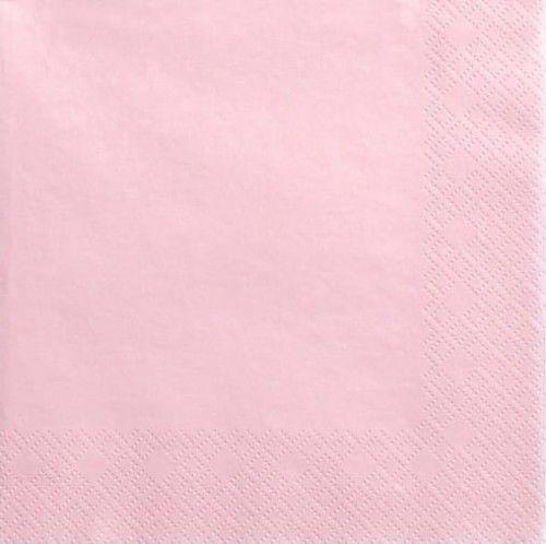 Serwetki papierowe jasno różowe