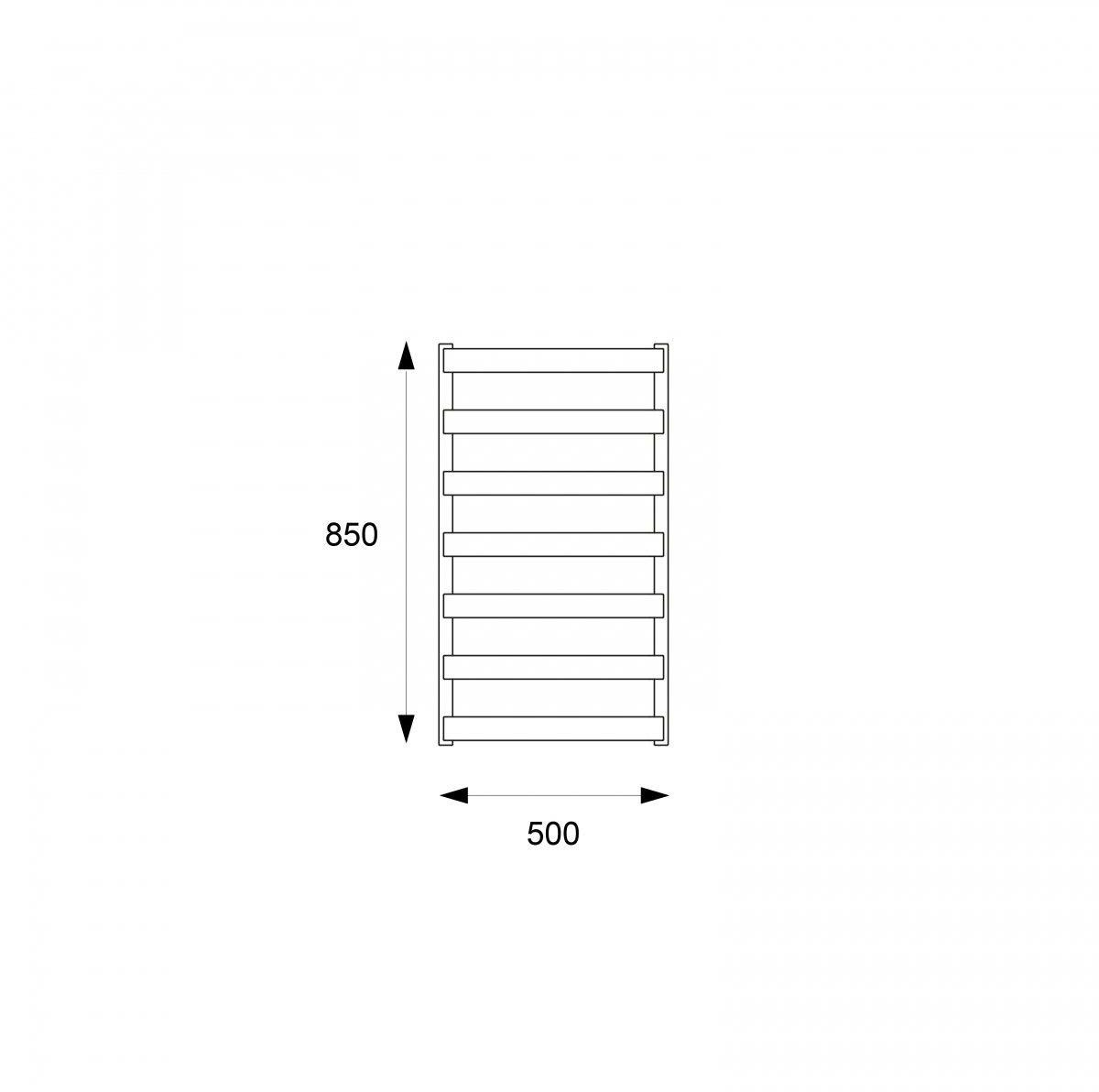 Grzejnik łazienkowy Meteor 85 Set biały, elektryczny