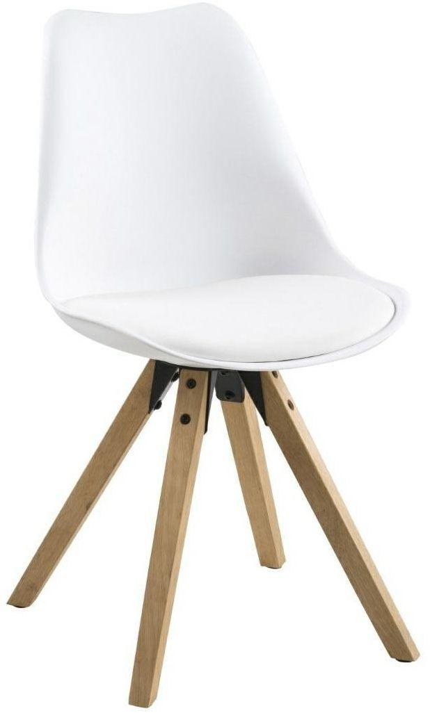 Krzesło Dima white/ dąb