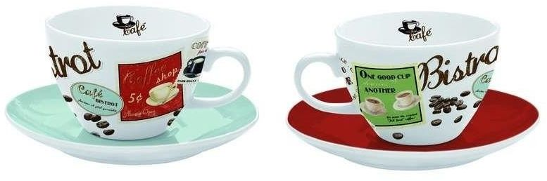 R2s - zestaw 2 filiżanek cappuccino z talerzykami
