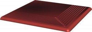 CLOUD ROSA stopnica ryflowana narożna gładka 30x30x1,1