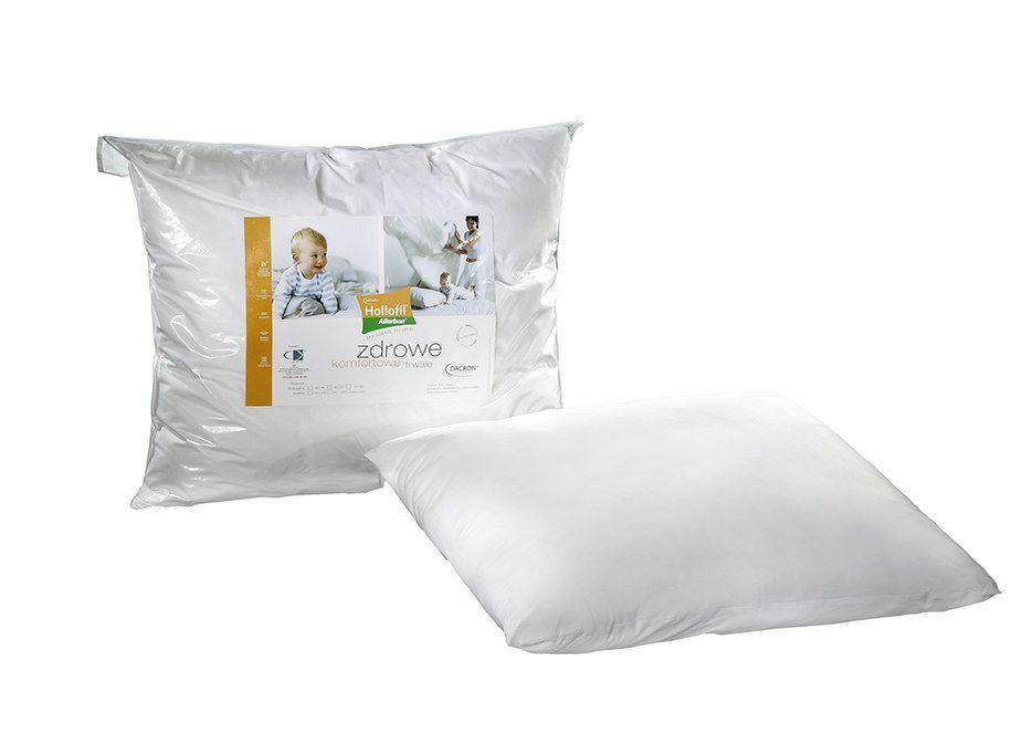 Poduszka antyalergiczna 40x40 Hollofil Allerban 0,21 kg biała ze środkiem przeciwdziałającym rozwojowi roztoczy grzybów i bakterii AMW