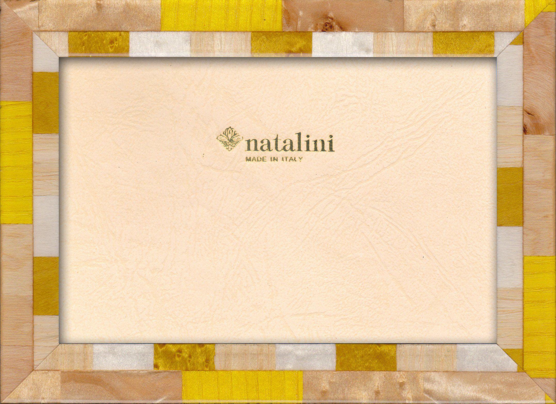 Natalini Marquetry ramka na zdjęcia wykonana we Włoszech, tulipan, żółta, 12 cm x 18 cm