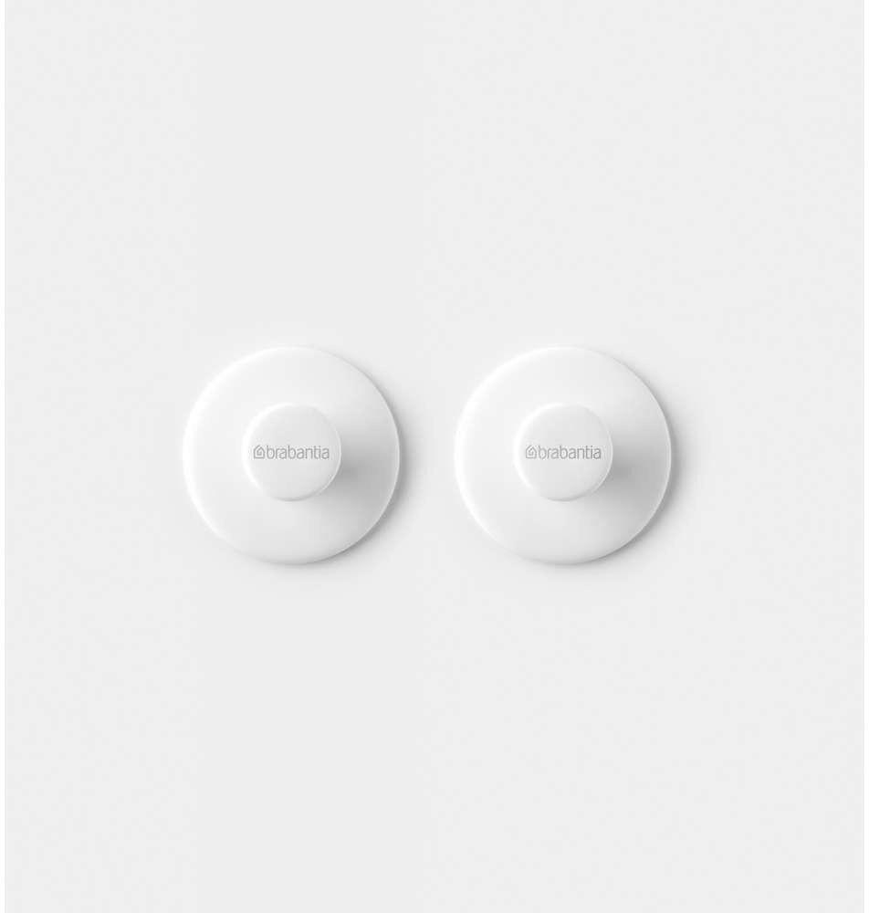 Brabantia - haczyki na ręczniki - 2 sztuki - białe - biały
