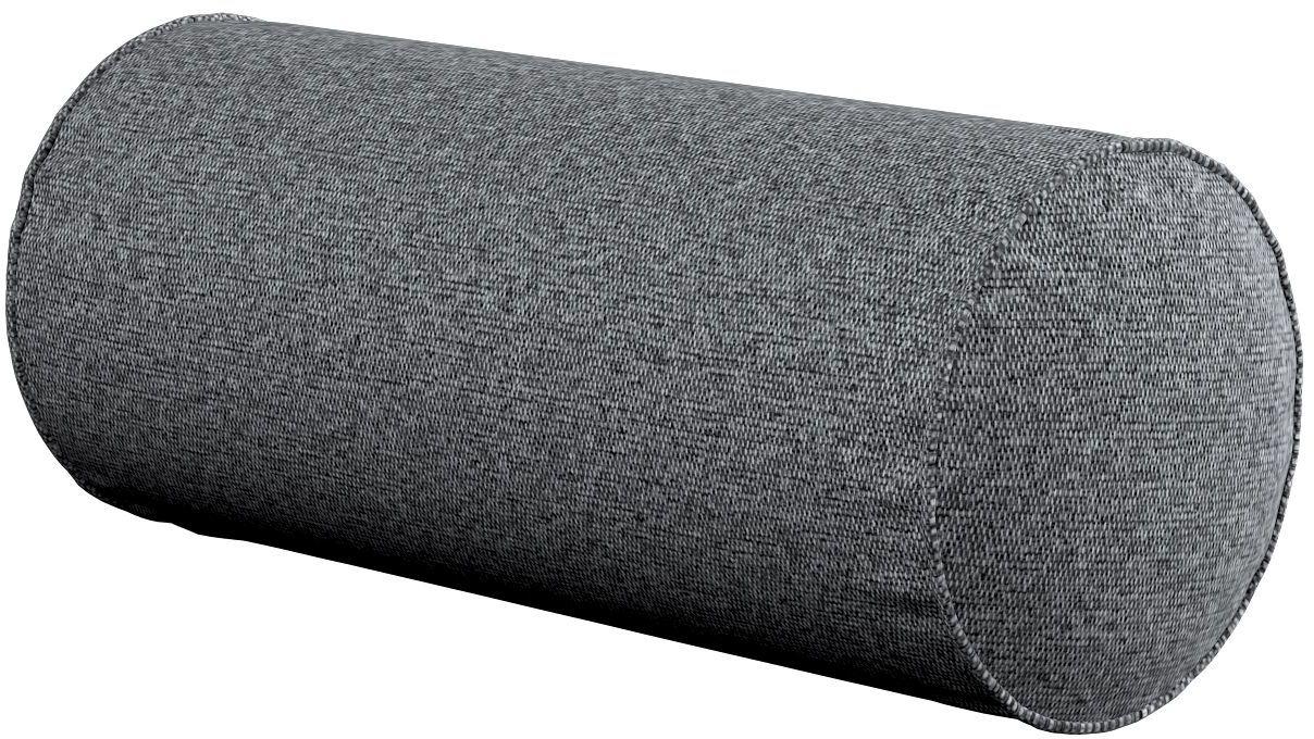 Poduszka wałek prosty, ciemno szary melanż, Ø16  40 cm, Amsterdam