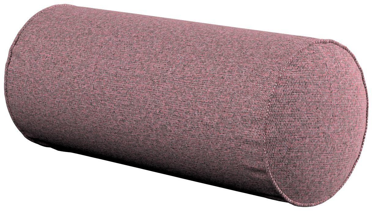 Poduszka wałek prosty, różowy z czarną nitką, Ø16  40 cm, Amsterdam