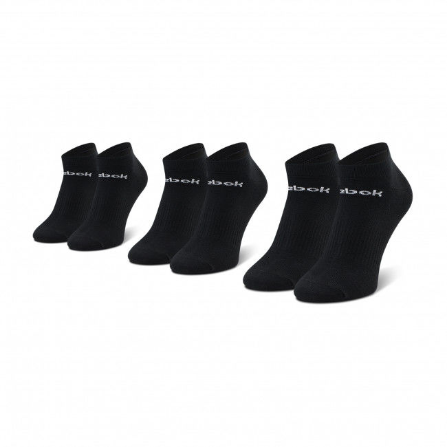 Zestaw 3 par niskich skarpet unisex Reebok - Act Core Low Cut Sock 3P GH8191 Black