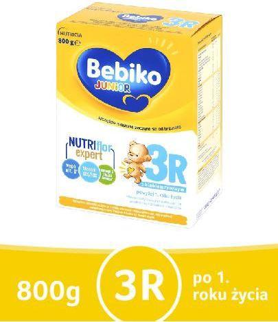 Bebiko 3R Junior mleko w proszku z kleikiem ryżowym dla dzieci po 1 roku życia 800 g
