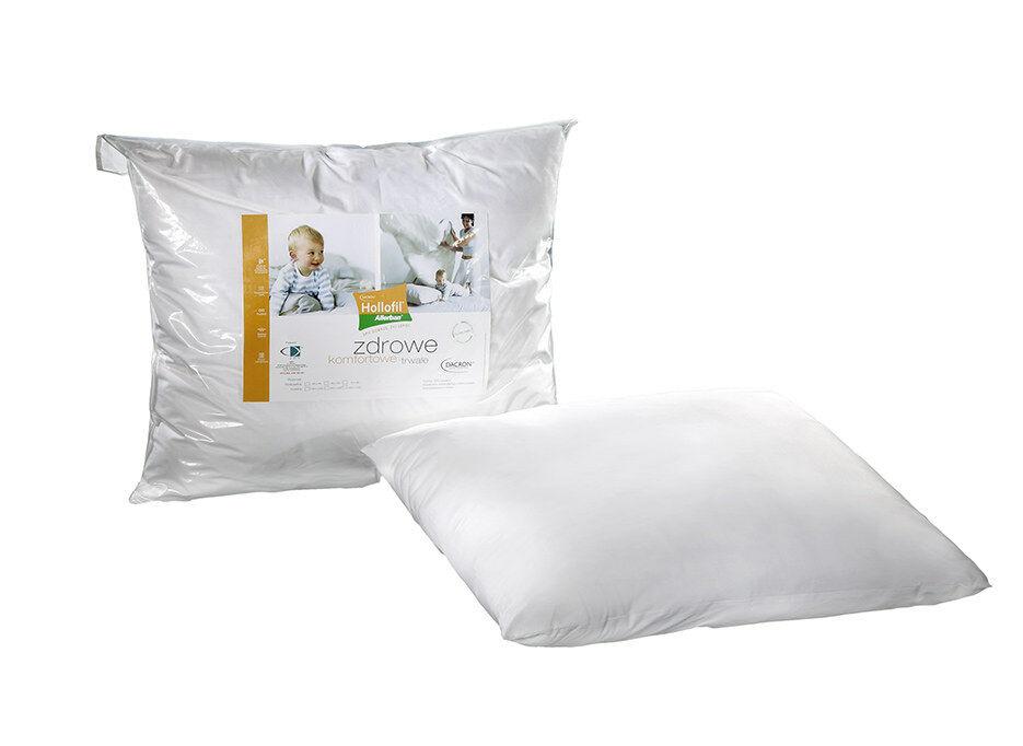 Poduszka antyalergiczna 50x60 Hollofil Allerban 1,42 kg biała ze środkiem przeciwdziałającym rozwojowi roztoczy grzybów i bakterii AMW