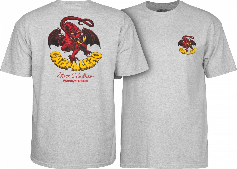 t-shirt męski POWELL PERALTA STEVE CABALLERO ORIGINAL DRAGON GRAY