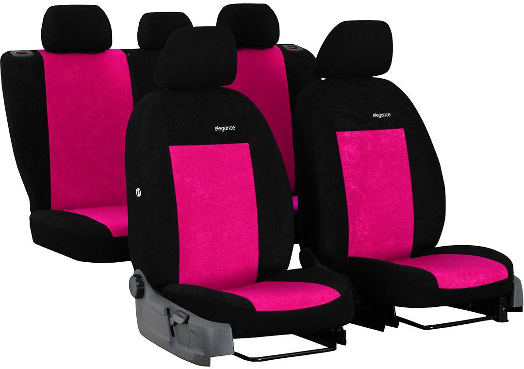 Pokrowce samochodowe do Ford Fusion van, Elegance, kolor różowy