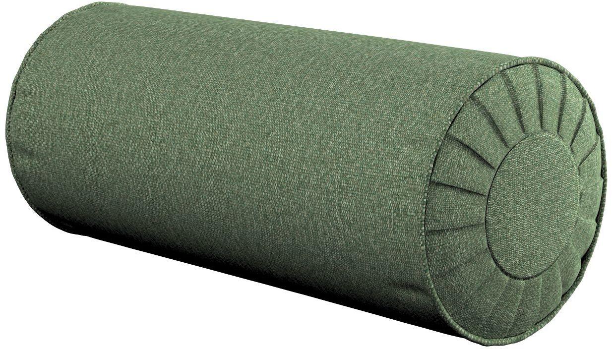 Poduszka wałek z zakładkami, zielony melanż, Ø20  50 cm, Amsterdam
