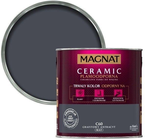 Farba Magnat Ceramic grafitowy antracyt 2,5 l