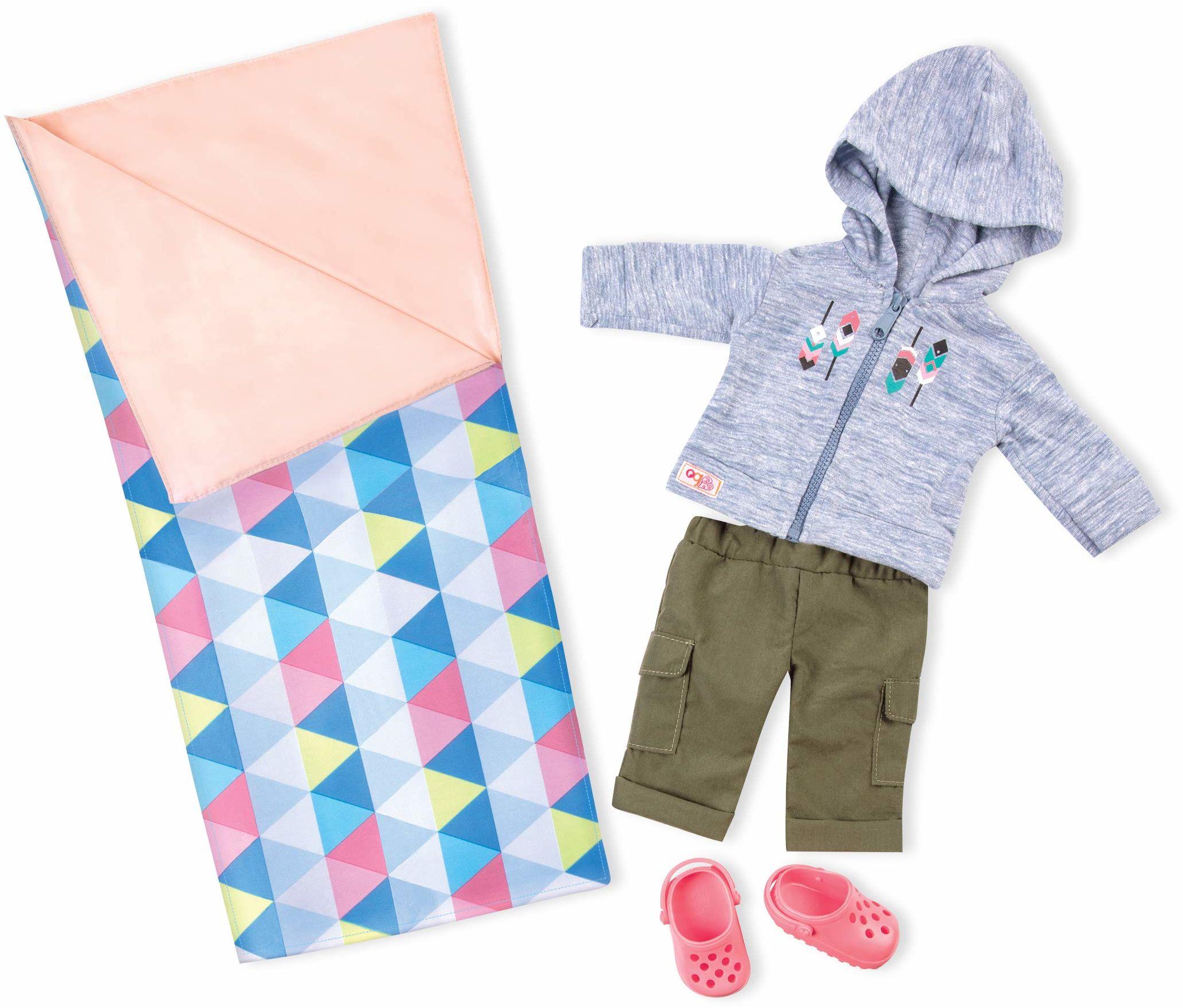 Our Generation Ubrania dla lalek  przytulny kamper  luksusowy strój kempingowy dla lalek 46 cm  dla dzieci w wieku 3, 4 lat i więcej