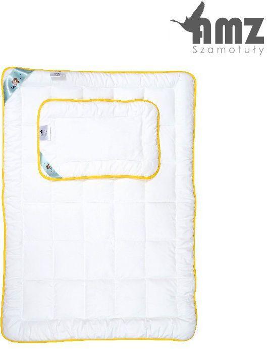 Poduszka i kołdra antyalergiczna dziecięca AMZ Niedźwiadek Honey, Kolor - biały, Rozmiar - 90x120 + 40x60 NAJLEPSZA CENA, DARMOWA DOSTAWA