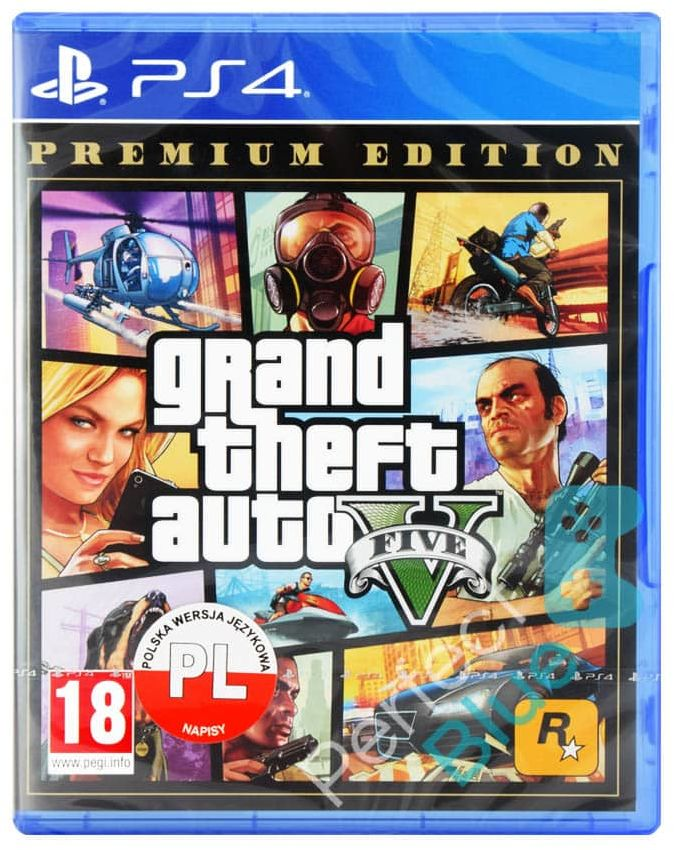 Grand Theft Auto V Premium Online Edition / PS4 / Warszawa