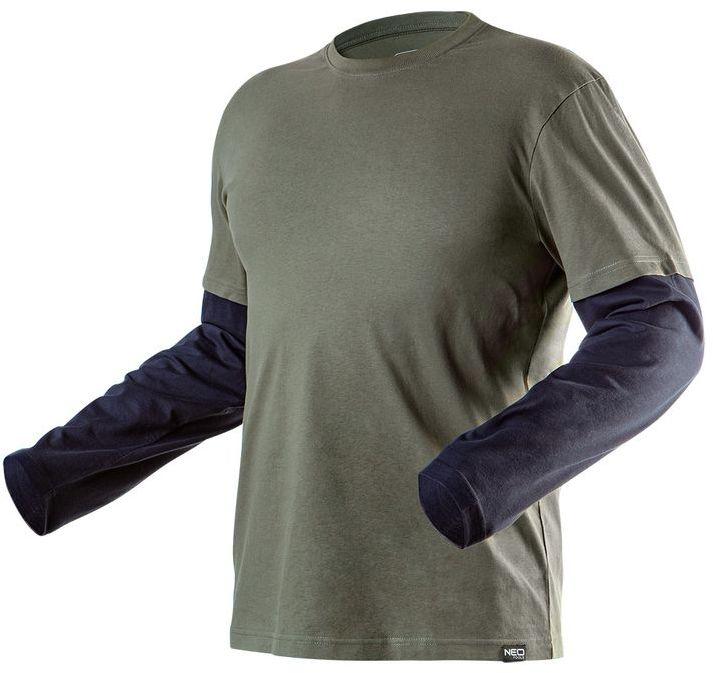 Koszulka z długim rękawem CAMO olive, rozmiar XXL 81-616-XXL