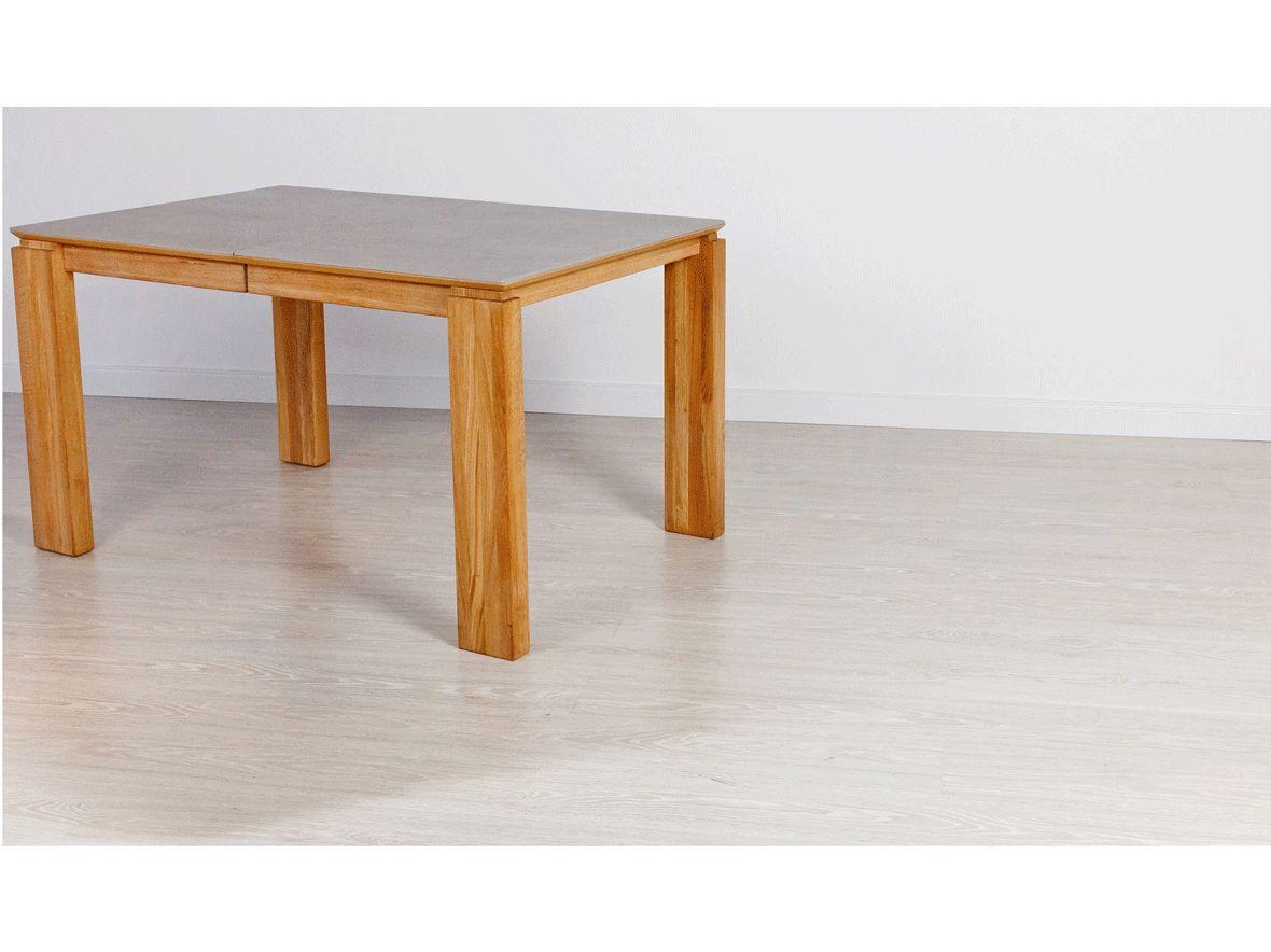 Stół dębowy 20 rozsuwany / konglomerat kwarcowy DEKTON