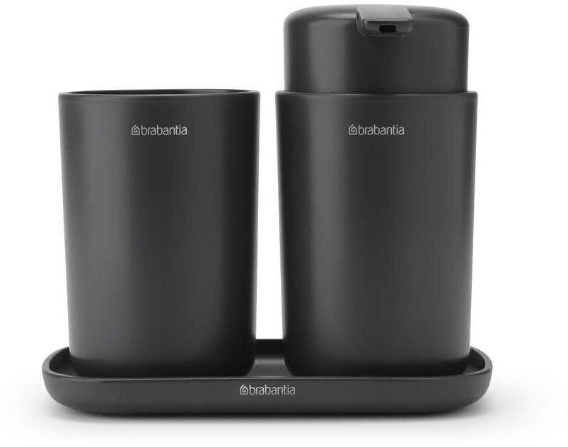 Brabantia - zestaw akcesoriów łazienkowych - ciemnoszary