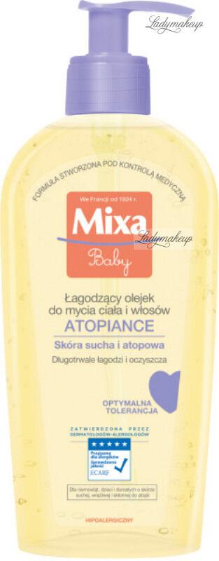 MIxa - Baby - ATOPIANCE - Łagodzący olejek do mycia ciała i włosów - Skóra sucha i atopowa - 250 ml