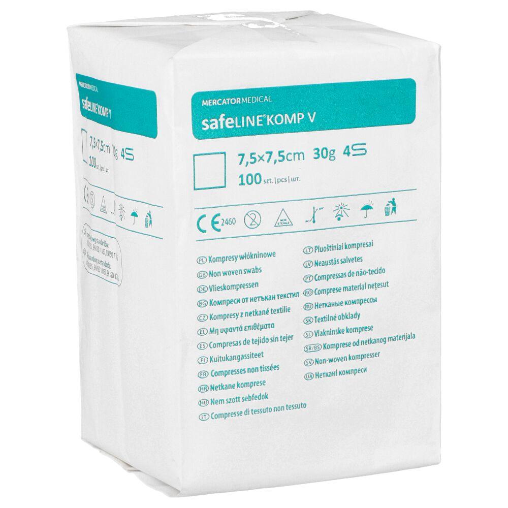 Kompresy z gazy Safeline Komp 30G 4W
