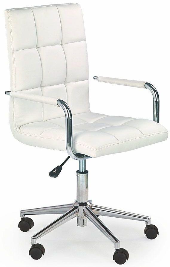 Pikowany fotel dla ucznia Amber 2X - biały