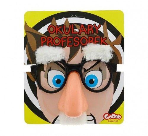 Okulary z nosem, brwiami i wąsem (siwe)